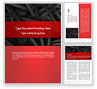 Business: Abstract Black Overlapping Stripes Word Template #13378