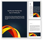 Abstract/Textures: Abstract Vivid Arcs Word Template #13382