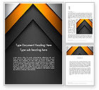 Business: Abstract Right Directional Arrow Word Template #13384