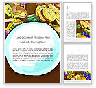 Food & Beverage: Fruits and Vegetables Diet Word Template #13390