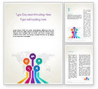 Global: Word Map with App Icons Word Template #13392