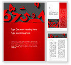 Education & Training: Red Numbers Word Template #13396
