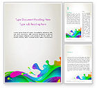 Art & Entertainment: Color Blob Word Template #13399