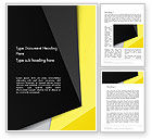 Abstract/Textures: Yellow and Black Shapes Word Template #13413
