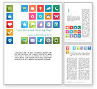 Business Concepts: Icons in Flat Design Word Template #13421