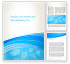 Abstract/Textures: Blue Wave with Transparent Squares Abstract Word Template #13428