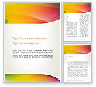 Abstract/Textures: Orange Green Gradient Abstract Word Template #13443