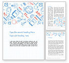 Education & Training: School Background Word Template #13450