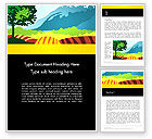 Art & Entertainment: Cutout Scenery Word Template #13464