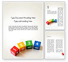 Education & Training: Learning to Count Word Template #13473