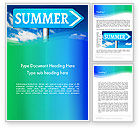 Holiday/Special Occasion: Summer Sign Word Template #13480