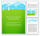 Nature & Environment: Wind Farm Illustrative Word Template #13481