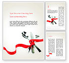 Food & Beverage: Fork Knife and Spoon Tied Up With Red Ribbon Word Template #13484