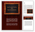 Food & Beverage: Blackboard Wooden Menu Word Template #13489