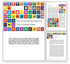 Careers/Industry: Scattering of Flat Design Icons Word Template #13490