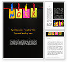 Education & Training: Work Planning Word Template #13496