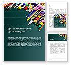 Careers/Industry: School Office Supplies Word Template #13502