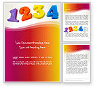 Education & Training: Teach Your Child Numbers Word Template #13509