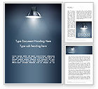 Art & Entertainment: Metal Spotlight Word Template #13512