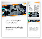 People: Working Together Business People Word Template #13513