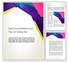 Abstract/Textures: Abstract Colorful Mixed Sharp Layers Word Template #13514