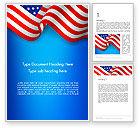 America: American Patriotism Word Template #13518