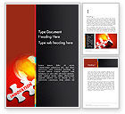 Business Concepts: Innovation Puzzle Piece Word Template #13521