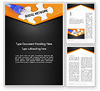 Careers/Industry: Social Network Puzzle Piece Word Template #13531