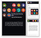 Careers/Industry: Flat Icons Word Template #13542