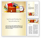 Education & Training: Back to School with School Supplies Word Template #13555
