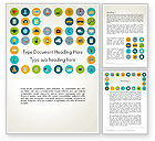 Business Concepts: Flat Design Round Icons Word Template #13559