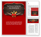 Careers/Industry: Gold Flatware Restaurant Presentation Word Template #13560