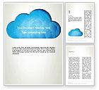 Careers/Industry: Blue Cloud Word Template #13574