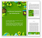 Nature & Environment: Green Sustainability Word Template #13580