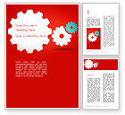 Business Concepts: Flat Gears Word Template #13586