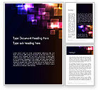 Abstract/Textures: Squares and Spectrum Word Template #13599