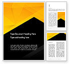 Business: Black and Yellow Shapes Word Template #13600