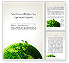 Nature & Environment: Young Shoot on Green Earth Word Template #13612