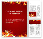 Nature & Environment: Autumn Leaves Word Template #13613