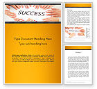 Business Concepts: Working for Success Word Template #13615
