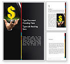 Financial/Accounting: Save a Dollar Word Template #13616
