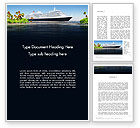Careers/Industry: Cruise Ship Word Template #13623