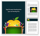 Education & Training: Apple of Knowledge Word Template #13626