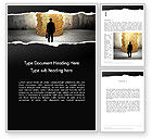 Financial/Accounting: Businessman Standing in Front of Stack of Coins Word Template #13629
