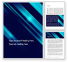 Abstract/Textures: Abstract Blue Blades Word Template #13635