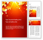 Nature & Environment: Autumn Maple Word Template #13642