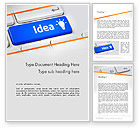 Business Concepts: Idea Button On Keyboard Word Template #13648