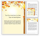 Nature & Environment: Yellow Leaves in the Sunset Word Template #13652