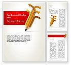 Education & Training: Education Pencil Word Template #13657