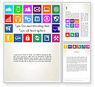 Technology, Science & Computers: Color Technology Flat Icons Word Template #13663